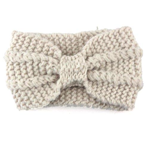 BZLine® Damen Stirnband Winter Kopfband Haarband Winter wärmer Haarband (Beige)