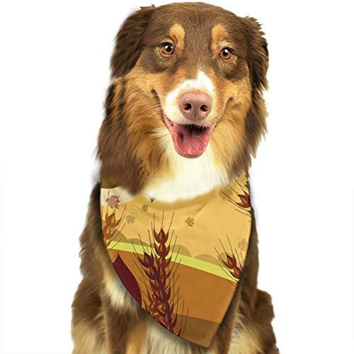 Osmykqe Hundebandana-Haustier-Schal-Erntedank-Herbst-Kürbis-Klassische Nette Haustier-Hündchen-Bandana-Schal-Lätzchen (Kürbis Pet Bandana)