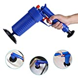 UOKOO Toilet Plunger, Air Drain Blaster, Pressure Pump Cleaner, High Pressure Powerful Manual Sink Plunger Opener Cleaner Pump for Bath Toilets, Bathroom, Shower, kitchen Clogged Pipe Bathtub
