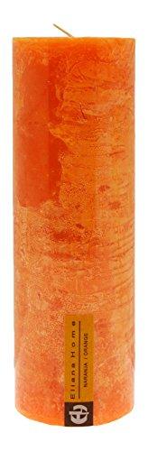 Eliana Home Vela Rustica Naranja, 7 x 20 cm, Cera, 7.00x7.00x20.00 cm