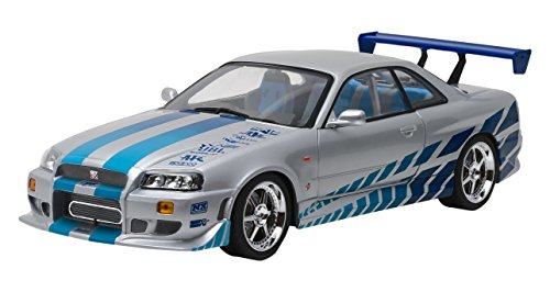 fast and furious modellautos Greenlight Collectibles–19029–Nissan Skyline R34–2Fast 2Furious–1999–Maßstab 1/18–Silber/Blau