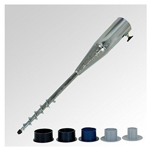 BODENHÜLSE Einsteckhülse Ampelschirm Sonnenschirm Marktschirm Wäschespinne