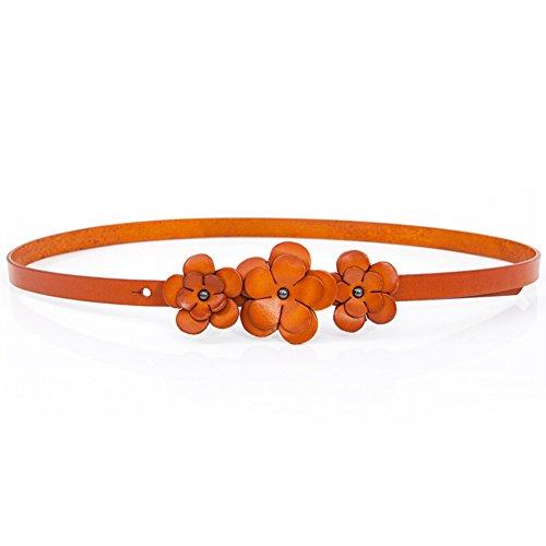 vestido-con-cinturon-fino-decorativo-correas-de-las-senoras-flor-a-103cm41inch