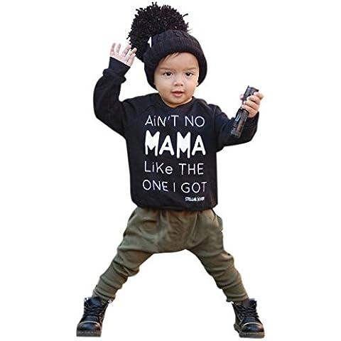 decorie Bambino Manica lunga parole Design T-Shirt + pantaloni Outfits
