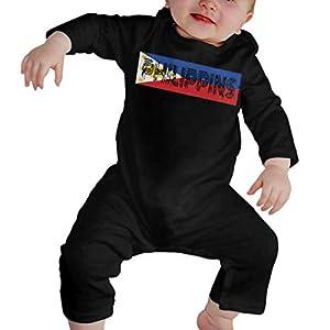 Phillipines Islands Vintage Flag Baby Girl Long Sleeve Bodysuit Infant Romper Jumpsuit 13