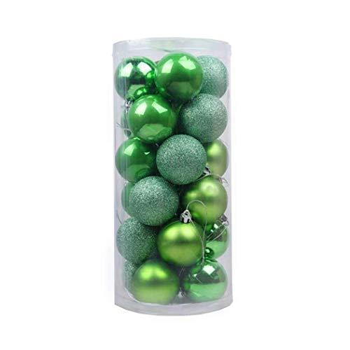 Kaimus 24 pezzi 8 cm diametro brillante palle di natale ornamenti in plastica decorazioni di natale ciondolo per abeti albero di natale in verde viola blu rosso bronzo rosa argento oro