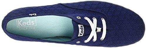 Keds Ch Eyelet, Chaussures à Lacets Femme, Bleu Marine, Various Bleu (Bleu)
