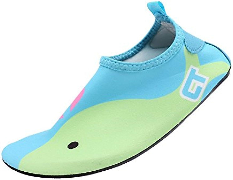 Eagsouni Badeschuhe/Wasserschuhe/Aquaschuhe/Schwimmschuhe weisshe Rutschfest Schuhe fuumlr Damen Herren Kinder Baby