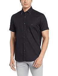 LP Louis Philippe Mens Casual Shirt (8907545638472_LYSH317S10589_42_Black)
