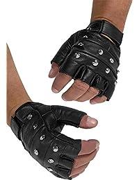 Lederhandschuhe ohne Finger mit Nieten - echtes Leder