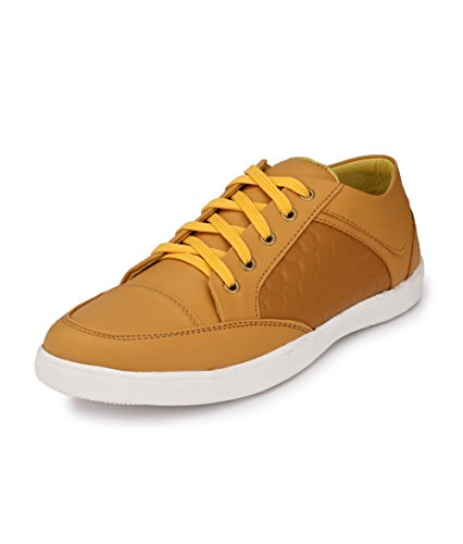 Knoos Men's Tan Synthetic Leather Stumble Casual Shoes (CR-06, Size: 7 UK/IND)-CR-06-TAN-7