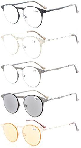 eyekepper-lot-de-5-lunettes-de-lecture-de-vue-de-qualite-a-ossature-metallique-350
