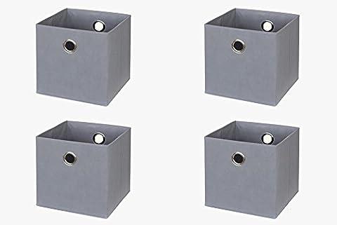 Ikea Kallax / Expedit Regal Box (4er Set) in grau