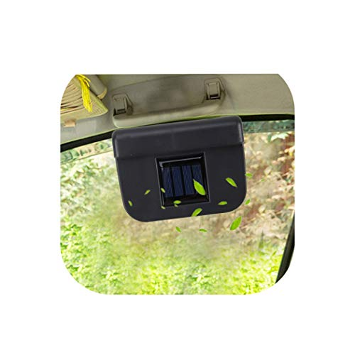 Solarbetriebener Auto-Kühlventilator für die Windschutzscheibe, automatischer Kühlventilator für Fahrzeuge, mit Gummistreifen