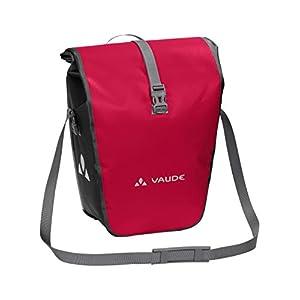 VAUDE Aqua Back ? Juego de 2 bolsas para bici adaptables a la carga e impermeables, Rojo (Rojo India), Talla única