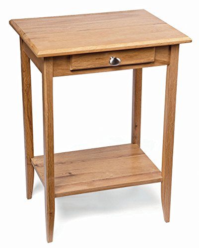 Waverly Oak Small Console Table in Light Oak Finish | Solid Wooden Telephone / Bedside / Lamp / Side / End Stand