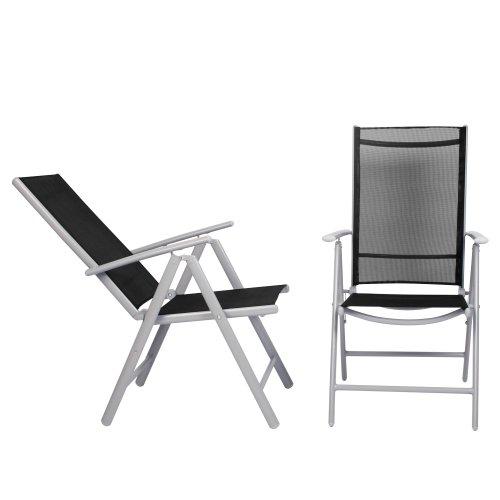 Miadomodo 7-teilige Sitzgarnitur Gartengarnitur Gartenmöbel Terassenmöbel Sitzgruppe Garten aus Aluminium mit Farbwahl - 3
