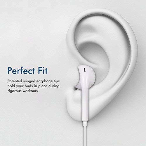 Gassa Earphones for Smart Phones with 3.5 mm Jack and Compatible for iPhone 4 / 4s / 5 / 5s / 6 / 6s with Volume Button and Mic Image 6