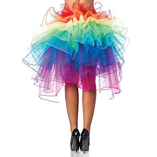 Kostüm Clown Mit Tutu - UTOVME Regenbogen Multicoloure Tute Roeckchen Ballett-Tanz-Rueschen Layered Tiered Kleid Rock