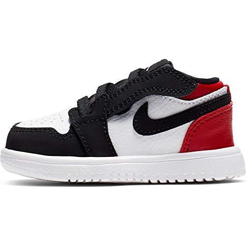Nike Jordan 1 Low Alt TD, Zapatillas para Bebés, Multicolor White/Black/Gym Red 116, 25 EU