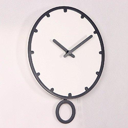 ZHGI Guarda il design semplice in legno elegante orologio da parete mute living room bedroom office grafici per parete,grey box