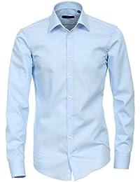 Venti - Slim Fit - Bügelfreies Herren Business Hemd mit Extra langem Arm(72cm) in verschiedenen Farben (001482)