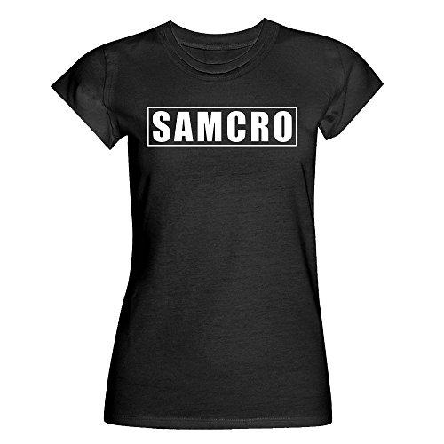 Sons of Anarchy Damen-T-Shirt mit Samcro-Logo, Größen S bis XXL, Redwood Original
