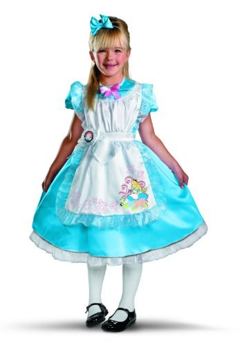 (Disney Classics Alice in Wonderland Deluxe Child Dress-Up Costume - Medium 50 - 53 Tall by Disney)