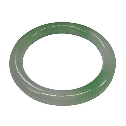 Unbekannt Frauen Natur handgefertigt grün weiß Jade Jadeit Armband Armreif 55mm