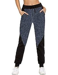 SUNNYME Femme Pantalon de Sport Pants Jogging Gym Survêtement Yoga Haut  Taille avec Poches 1ca06fa5c40