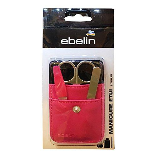 ebelin Manicure Etui 3-teilig, bestehend aus Nagelschere, Pinzette und Nagelfeile (1St packung)