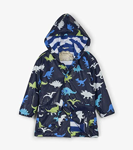 Hatley Kids Colour Changing Raincoat - Dino Herd