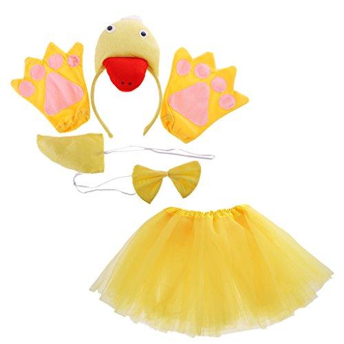Gazechimp Kind Tier Kostüm Set für Halloween Karneval Fasching - Ente