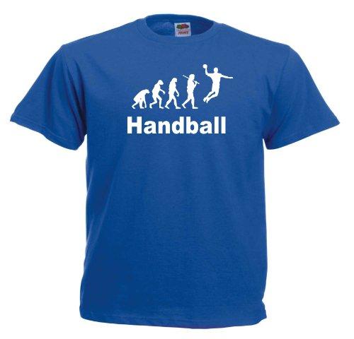 Handball Evolution T555 Unisex T-Shirt Textilfarbe: blau