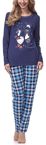 Italian Fashion IF Pijamas para Mujer Emily M007 (Azul Oscuro, M)
