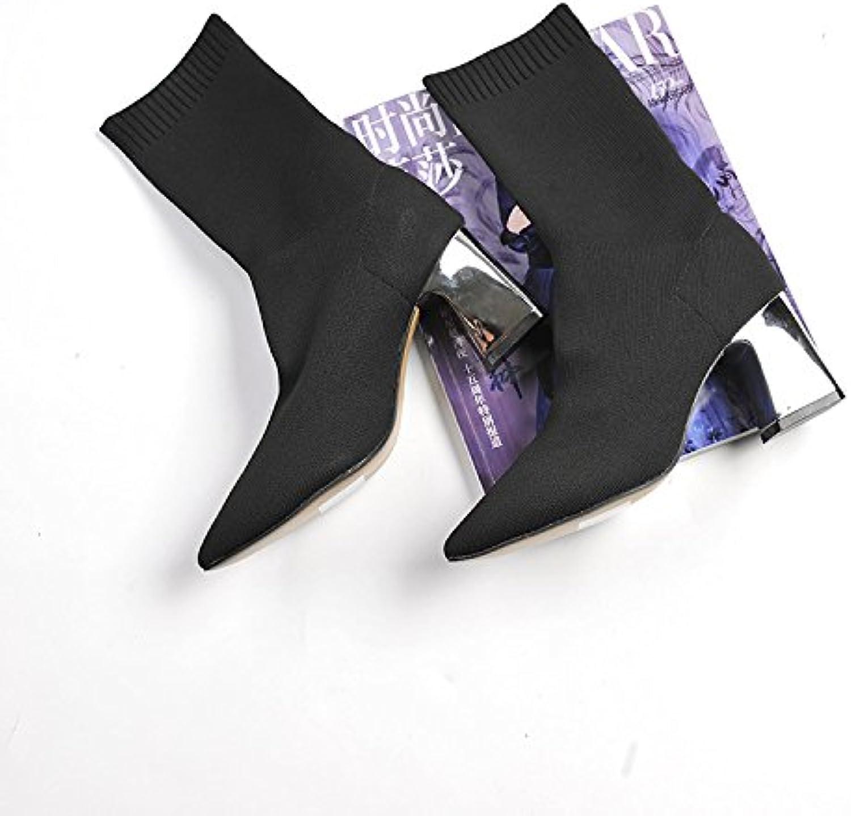 un étireHommes t t t placage et bottes de chaussettes bottes pieds tuyau solide personnalité audacieuse et agressif, fille de couleur, noire, 39 b07bnm9nb4 parent 64f22a