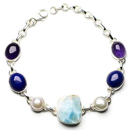 stargems-tm-naturale-dei-caraibi-larimar-fiume-perla-e-lapislazzuli-braccialetto-in-argento-sterling