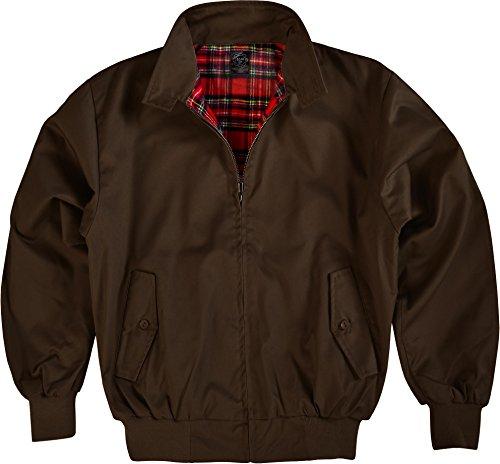 GearUp Original Harrington Jacke English Style in 12 verschiedenen Designs wählbar Farbe Braun Größe 5XL