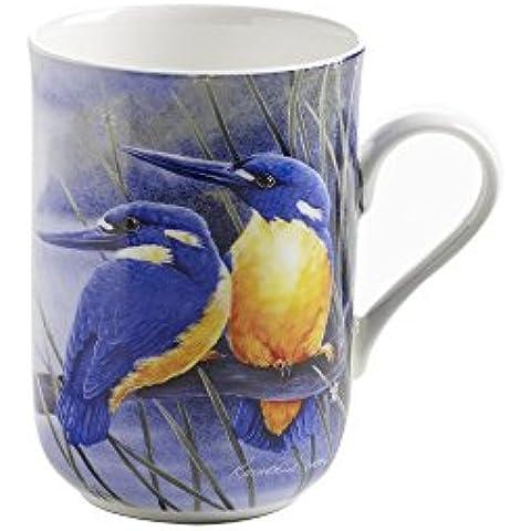 Maxwell & Williams PBD030 Birds of Australia - Taza en caja regalo, diseño de pájaro martín pescador azur