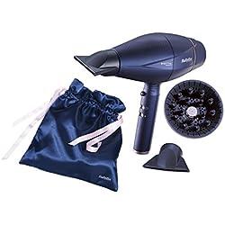 BaByliss 6500ESE - Secador de pelo con sensor digital, ajusta automáticamente la velocidad y temperatura, secado ultra rápido 208 km/h, iónico, ligero y silencioso, incluye difusor y 2 boquillas