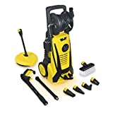 Wolf Electric Pressure Washer with Telesopic Lance 2400psi Water Jet High Power Quick Fit Release Nozzles Window Brush Patio Cleaner
