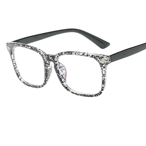 friendGG Blaues Licht Das GläSer Quadrat Sonderlings Brillen Rahmen Gegen Blaue Ray-GläSer Blockiert Brille Sonnenbrillen Mode Neutral Large Frame Sonnenbrille Integrierte Damen Herrenbrillen