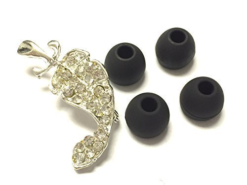 bsi-4pcs-black-small-eargels-for-motorola-s11-hd-s-11-flex-hd-wireless-stereo-headset-soft-earbuds-e