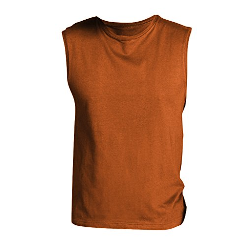 SOLS Herren Jazzy T-Shirt / Top, ärmellos Orange