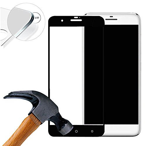 Lusee 2 X Pack (vollständige Abdeckung) 9H Panzerglasfolie Tempered Glass Hartglas für HTC One X10 5.5 Zoll Premium Screen Folie Protector Bildschirmschutz (Schwarz)
