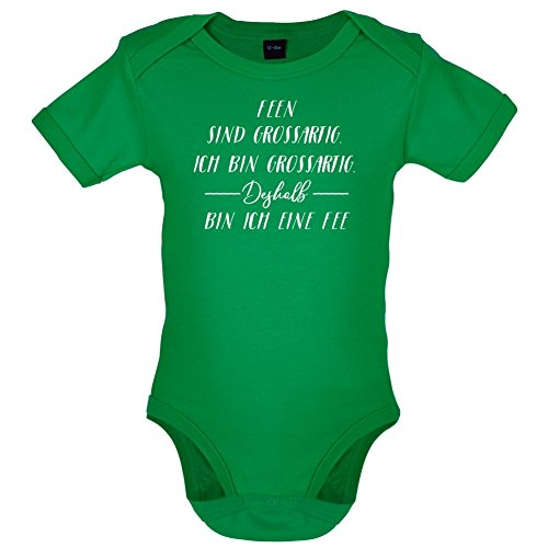 Ich Bin Grossartig - Feen - Lustiger Baby-Body - Leuchtend Grün - 6 bis 12 (Feen Kleinkind Kostüme Tinkerbell)