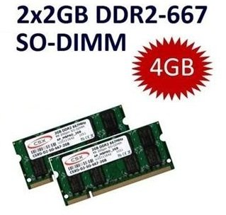 4GB 2 x 2GB Dual Kit 4096MB 200 pin DDR2-667 SO-DIMM Notebook Speicher Ram (667Mhz, PC2- 667) double sided, TOP MARKEN - JE NACH VERFÜGBARKEIT - TOP PREIS - 100% kompatibel zu DDR-533 PC-4200 - Pc4200 Sodimm Speicher