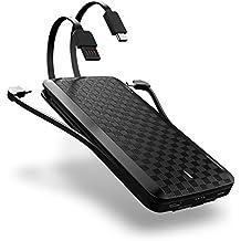 iWALK 12000mAh con Cables Lightning Type-C & Micro USB Quick Charge 3.0 Batería Externa Portátil Delgada Carga Cargador Power Bank Para Samsung Galaxy S8 Note8 iPhone 5 6 7 8 Plus X SE