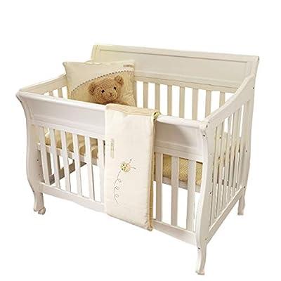 cama de cuna Cuna de bebé empalme de cama de madera maciza estilo europeo Cuna de cama multifunción