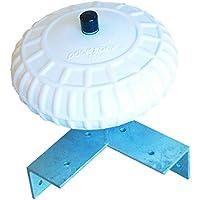 Dock Edge Corner Protection - Defensas para muelles de amarre, color blanco, talla 18-Inch